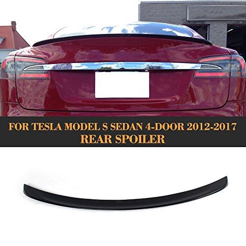 Tesla Black Boots (For Tesla Model S 2012-2017 MCARCAR KIT Rear Trunk Boot Spoiler Black FRP Wing Lip Bodykit)