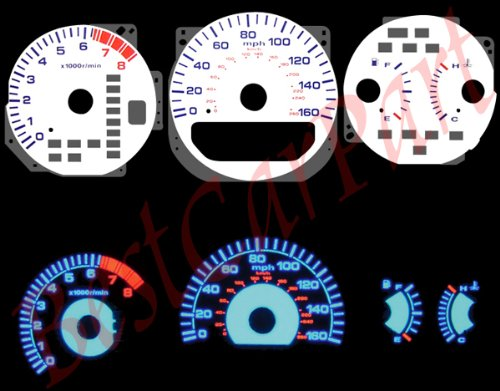 (White Reverse Glow EL GAUGES for 99-03 Acura TL V6 )