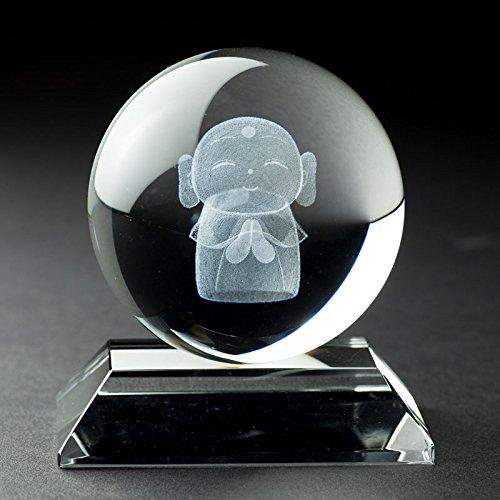 水晶地蔵 3D (直径6cm) B00TI5G8C2