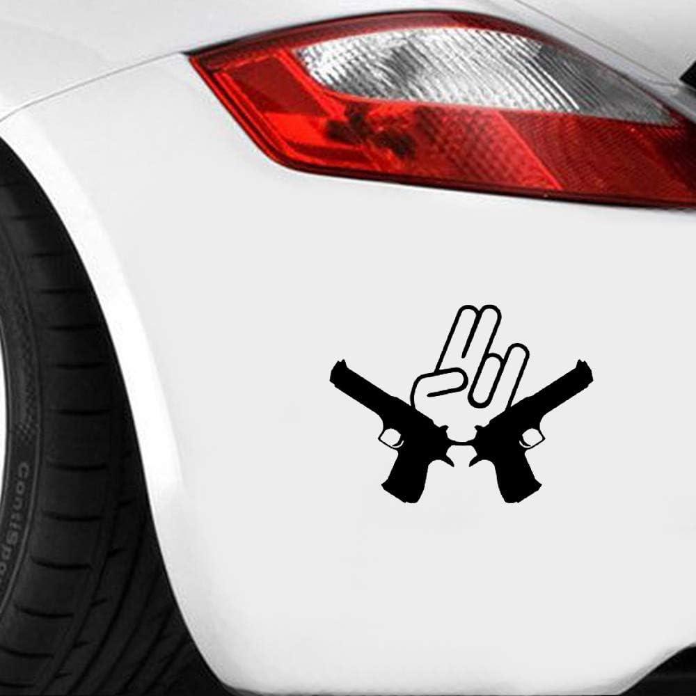 Pistolas de pistola de choque de 16 * 12.1 cm JDM Decoración de ventana de coche Pegatina de vinilo Pegatina Guantes y geniales Estilo de coche pegatina de pared frases pegatinas decorativas pared