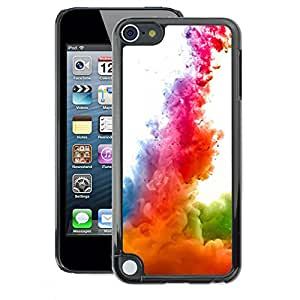 A-type Arte & diseño plástico duro Fundas Cover Cubre Hard Case Cover para Apple iPod Touch 5 (Dynamics Rainbow White)