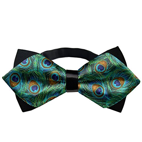 YEAHSPACE Peacock Feathers BowTie Gift Pre-tie Party Teen Oufits ()