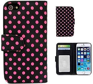 iphone 6 plus leather,iphone 6 plus polka dot case,Thinkcase Polka dot wallet leather cover case for iphone 6 plus leather cover case 05#