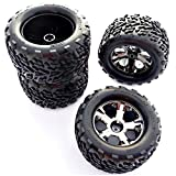 Traxxas Stampede 2wd XL-5 4 TALON TIRES & ALL STAR BLACK CHROME 12mm WHEELS