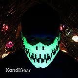 Original Mask From Kandi Gear - Glow in the Dark Skeleton Kandi Rave Mask