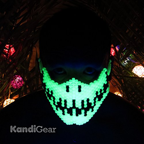 Original Mask From Kandi Gear- Glow in the Dark Ninja Kandi Mask, Rave -
