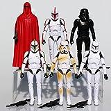 (Ferris wheel TH) Brand New 6 Pcs Star Wars figure Stormtrooper Clone Trooper Black Knight Darth Vader Sets Model Toy children's gift