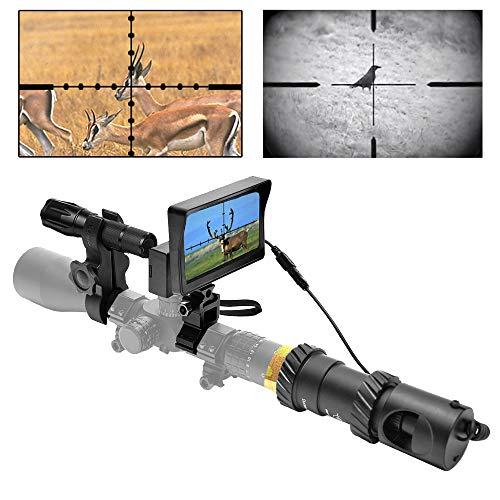 RHYTHMARTS [Upgrade DIY Digital Night Vision Monoculars for Riflescope with 5inch Screen and IR Flashlight Outdoor Hunting