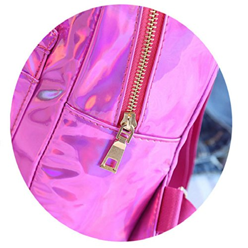 Backpack Girl Pack Bag Gold Main OneMoreT Holographic School Bag red Bags Glossy Silver Leather rose Mochila Funny Womem Reflective Laser 7CxwvZaxq