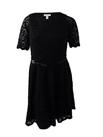 Belted Fitamp; Flare Lace Size Club Women's Dress0x Charter Plus rdxhQtsC