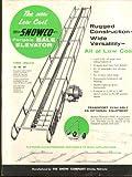 Snowco Portable Bale Elevator sell sheet 1958