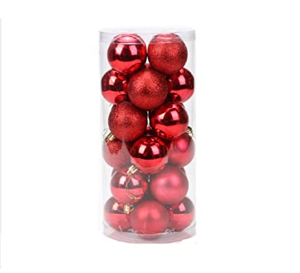 24pcs Christmas Tree Xmas Balls Decor Baubles Party Holiday Ornament 6cm