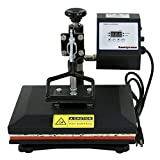 "Arts & Crafts : Super Deal Digital Swing Away 12"" X 10"" Heat Press Clamshell Transfer Machine for T-Shirt Sublimation with Digital LCD timer and Temperature Control"