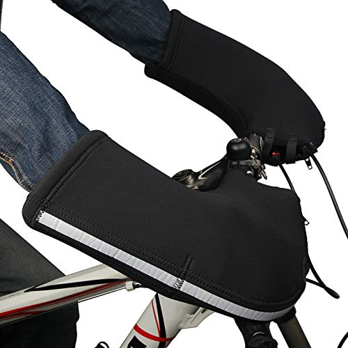 Danme 1 Pair Cycling Glove Warm Handlebar Windproof for Bicycle Mountain Road Bike Bar Winter