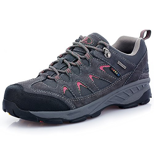 The First Outdoor Women's Dark Gray Hiking Shoe Antiskid Breathable Sport Trail Trekking Shoes 8 US