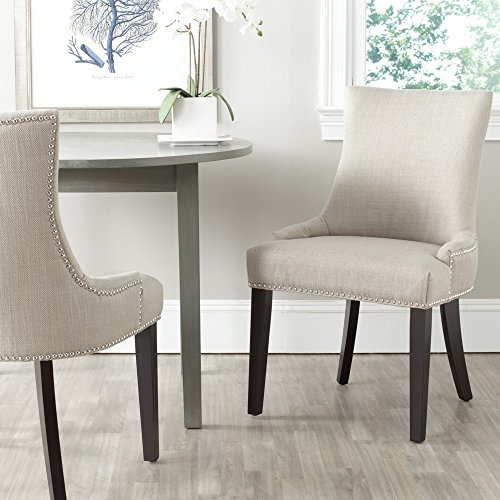Safavieh Mercer Collection Lester Dining Chair, Antique Gold and Espresso, Set of 2 -  MCR4709AH-SET2