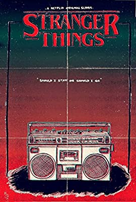 MOTIVATION4U Stranger Things, an American science fiction-horror web television series Joyce Byers, Jim Hopper, Mike Wheeler, Eleven 12 X 18 inch poster