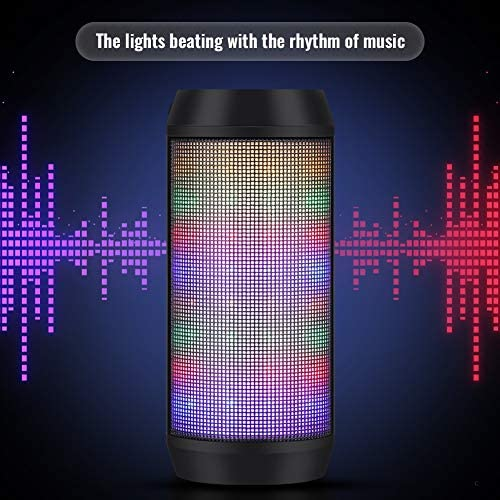 ELEHOT Bluetooth Speaker Portable Wireless with Lights, Stereo Loud Volume, TWS Dual Pairing Speaker with Subwoofer Outdoor 1 PC 51hRyf9kfmL