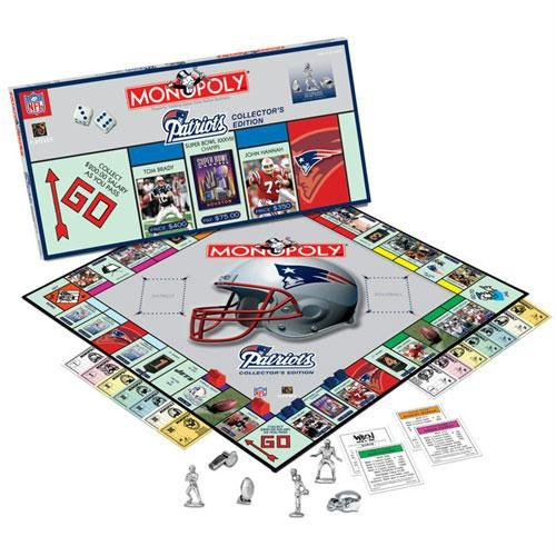 (USAopoly New England Patriots NFL Team Collector's Edition Monopoly)