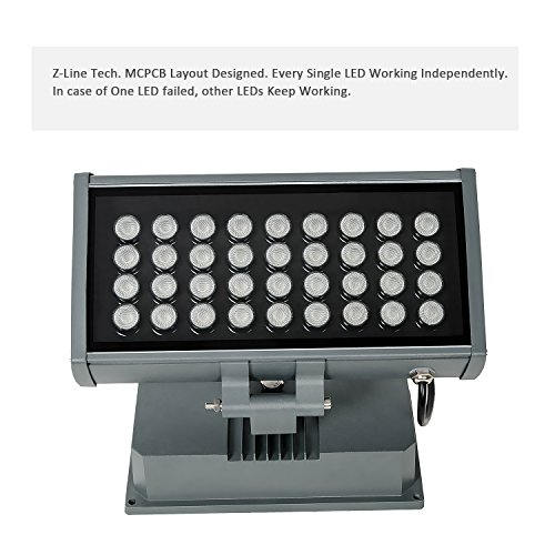 H-TEK 108W RGBW LED Wall Washer Light with RF Remote Controller, Color Changing LED Flood Light for Outdoor/Indoor Lighting Projects Hotels, Resorts, Casinos, Billboards, Building Decorations, Parties by H-TEK (Image #4)