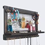 RHF Jewelry Organizer, Rustic Home Decor, Jewelry Holder Organizer, Necklace Holder, Earring Organizer, Jewelry Storage, Jewelry Shelf (Rustic)