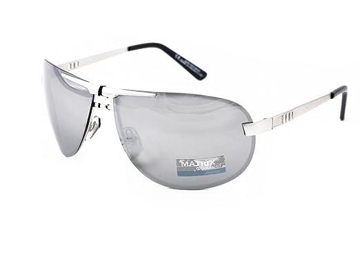 657b3f5c2e7 Image Unavailable. Image not available for. Colour  Matrix Aviator Mirrored Polarized  Sunglasses for Drivers - No Glare ...