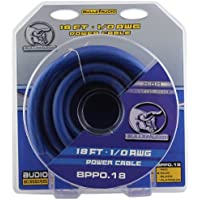 Bullz Audio BPP0.18BL 1/0 Gauge 18-Feet Car Audio Power Wire Ground Cable, Blue
