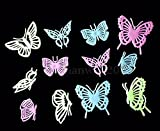 New 12PCS Home Decor Butterfly Fluorescent Wall Decals Luminescent wall stickers Set 43