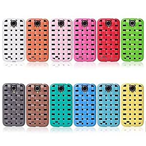 DUR Woven Style Tough Rubber Back Case Cover Skin For Samsung Galaxy S4 IV i9500