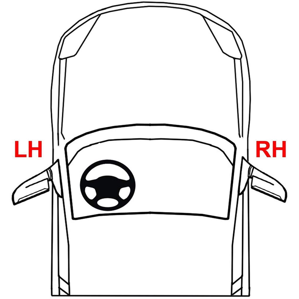 fgyhty Avant C/ôt/é Droit au Volant Lampe Effacer Voiture Objectif antibrouillard pour BMW E46 M3 2001-2006 S/érie 3 63177894018