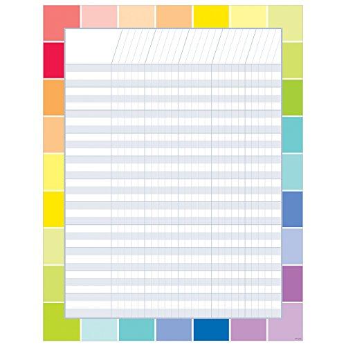 Paint Chip Color Chart (Creative Teaching Press Chart Rainbow Paint Chip Incentive Chart (5326))