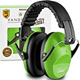 Vanderfields Earmuffs for Kids - Hearing Protection Muffs For Children Small Adults Women - Foldable Design Ear Defenders Protector with Adjustable Padded Headband for Optimal Noise Reduction - Green