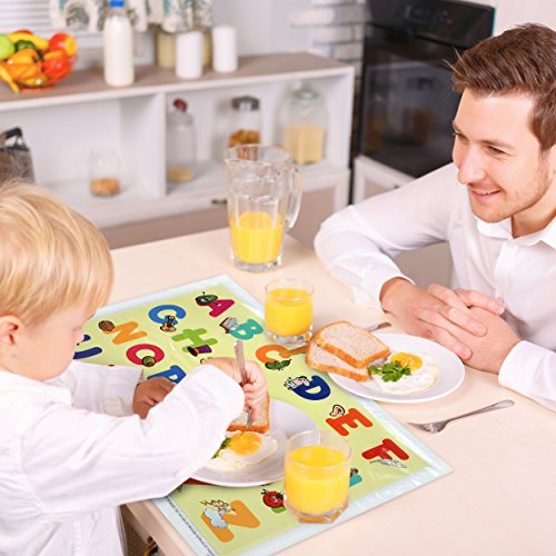 Carriella 60 Count ABC Disposable Placemats for Children Stick on Table Topper by Disposable Placemats (Image #2)