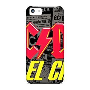 Bumper Hard Cell-phone Case For Iphone 5c With Customized High-definition Ac Dc Band Skin InesWeldon