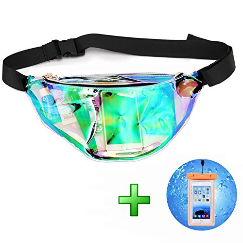 Fashion Neon Stylish Water Resistant Fanny Pack for Women Rave Festival Beach Waist Bags