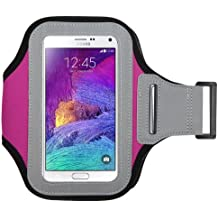 Avarious Neoprene Armband for Alcatel Flash (2017), 5.5-inch, Pink
