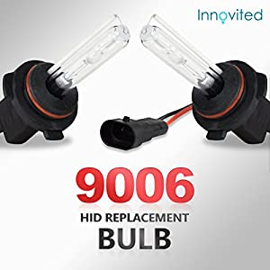 "Innovited HID Xenon Replacement Bulbs ""All Sizes and Colors""- 9006 8000K (1 Pair)"