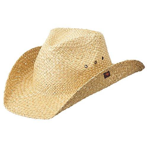 Peter Grimm Natural Straw Maverick Drifter Cowboy Hat - Natural