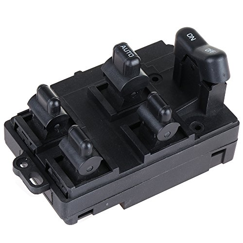 Fits 1994-1997 Honda Accord Power Window Switch Front Left Driver Side Master Control Switch Automotive Replacement Parts 35750-SV1-A0 35750-SV1-A02 83570-SV4-800ZB by cciyu