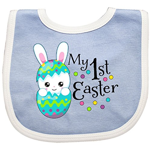 Inktastic - My First Easter- bunny in an egg Baby Bib Blue/White 2f089 -