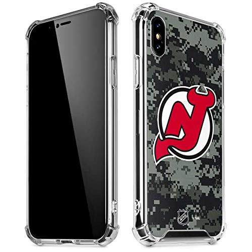 Skinit New Jersey Devils Camo iPhone XR Clear Case - Officially Licensed NHL Phone Case Clear - Transparent iPhone XR Cover