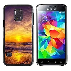 Be Good Phone Accessory // Dura Cáscara cubierta Protectora Caso Carcasa Funda de Protección para Samsung Galaxy S5 Mini, SM-G800, NOT S5 REGULAR! // Sunset Sea Beautiful Nature 11