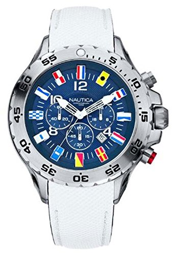 Nautica Men's A24514G NST Dive Style Chronograph Nautical Flag Watch