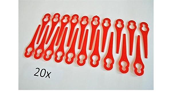 20 cuchillas de plástico / cuchillas de repuesto / placas ...