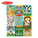 Melissa & Doug Make-a-Face Sticker Pad - Crazy Animals, 20 Faces, 5 Sticker Sheets