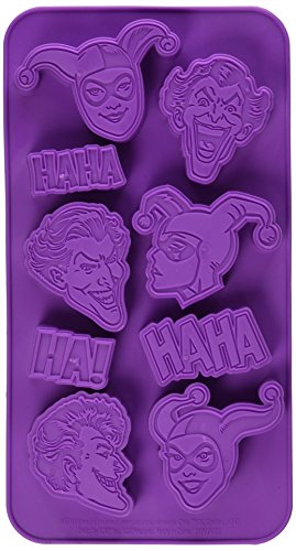 ICUP 7586 DC Joker & Harley Quinn Ice Cube Tray, Multicolor