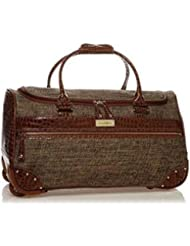 Samantha Brown Tweed Wheeled Weekender