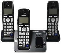 Panasonic KX-TGE233B Expandable Cordless Digital Phone with Large Keypad - 3 Handsets