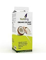 NutriZing Farina di Cocco Biologica - 1 Kg - Confezione Richiudibile Salva Freschezza - 100% Naturale senza additivi - Vegana e Vegetariana, Senza Glutine - Certificata da Soil Association