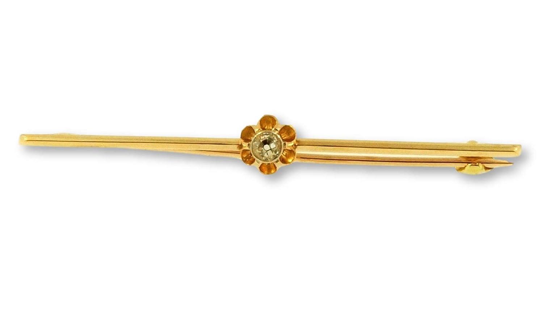 Alfiler de corbata de oro amarillo de 9 quilates, corte antiguo, 0 ...